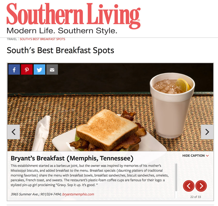 Bryant's Breakfast Southern Living